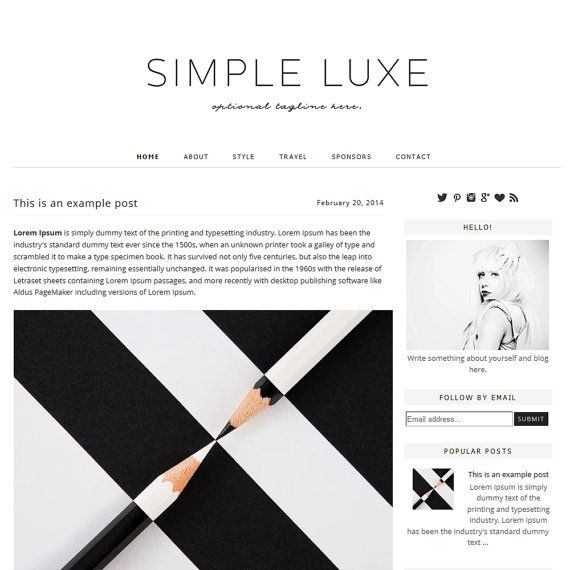 simple lux blogger template blogger theme blog design blogger