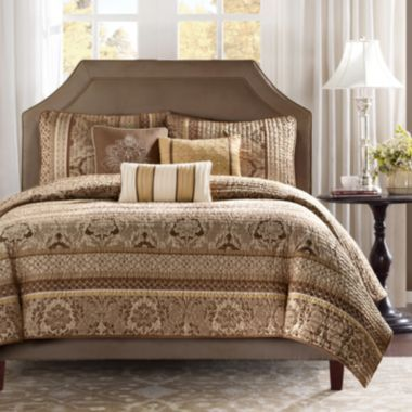 Brown Quilted Comforter Set At Jc Penney Home Is Where The Heart Is