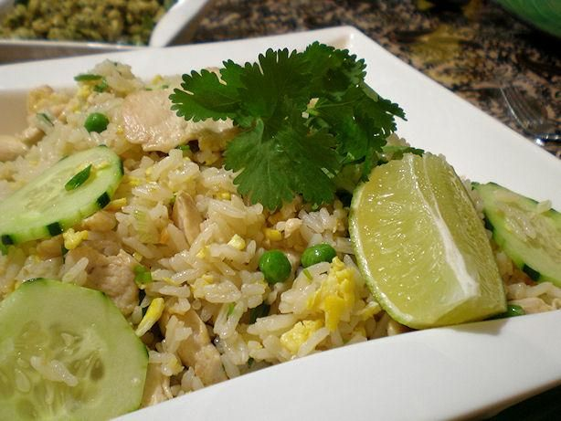 Thai Fried Rice--VERY yummy! I used less fish sauce than the recipe ...