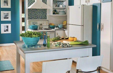 Cuisine turquoise mur ~ Solutions pour la décoration intérieure de ...