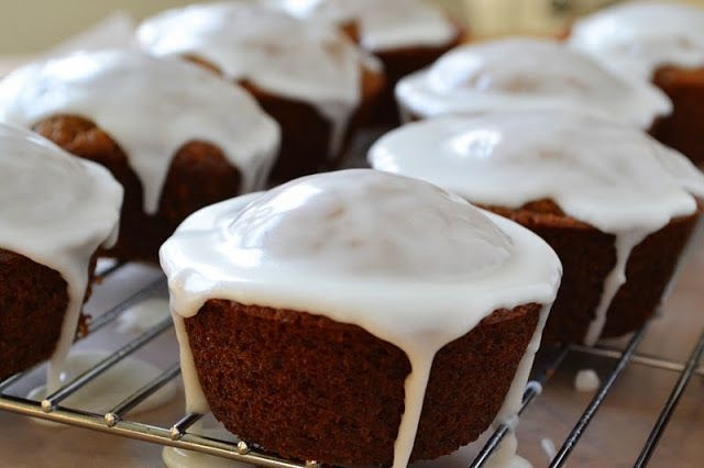 Gingerbread Muffins with Lemon Glaze - The View from Great Island