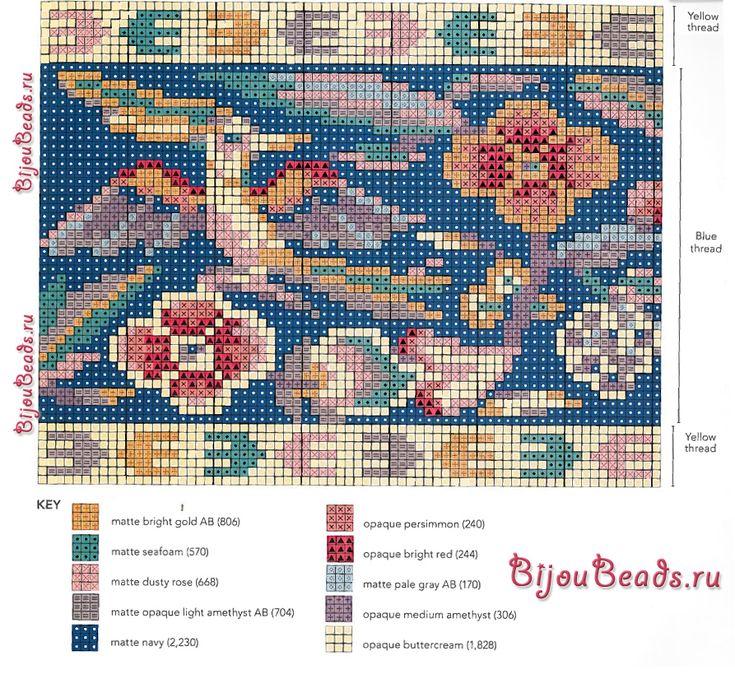 Схемы для косметички вязание бисером 193