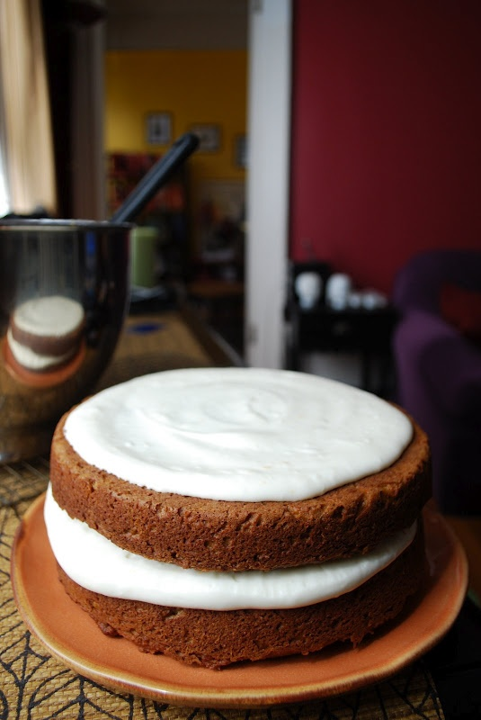 Dessert: Carrot Pulp Cake with Maple-Orange Cream Cheese Frosting ...