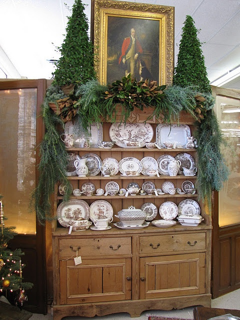 china cabinet christmas decorating pinterest