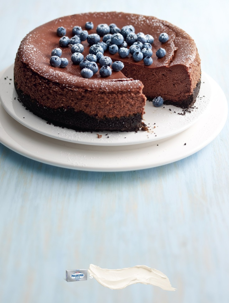 Philly Double-Chocolate Cheesecake | Kitchen Business | Pinterest