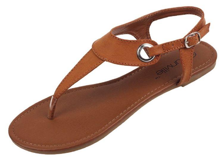 Womens Roman Gladiator Sandals Flats Thongs W/Buckle 4 Colors $5.8