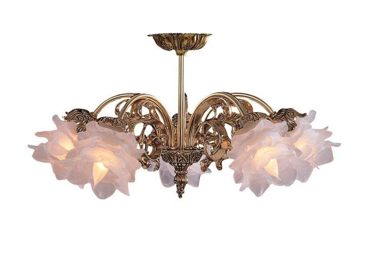 ceiling fan chandelier combination | Crystorama 465-OB-SF-L Cast Brass ...