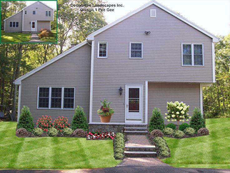 Contemporary Home Landscape Design Front Of Home Landscape De