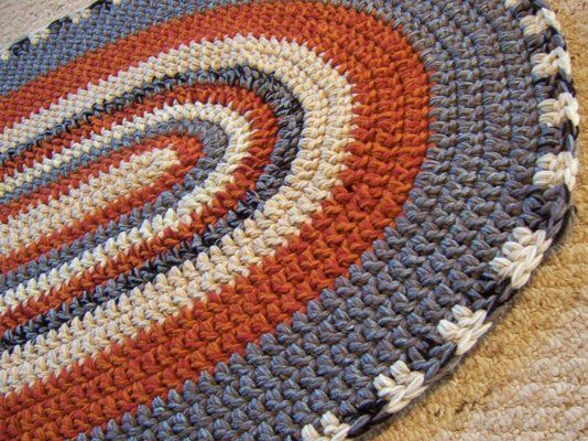 Free Crochet Pattern For Oval Rug : Oval crochet rug. crochet home Pinterest