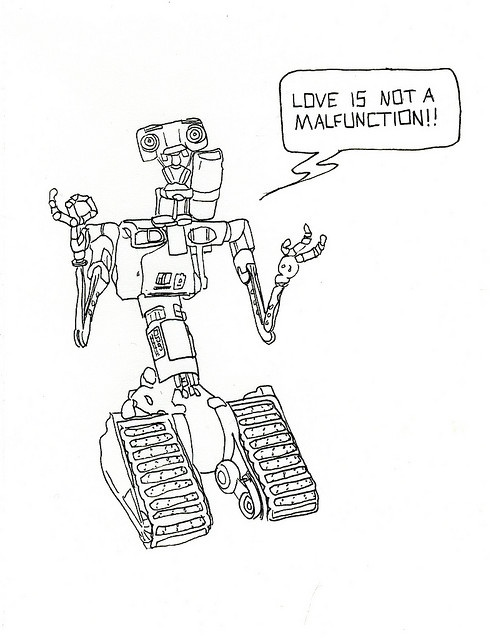 short circuit johnny 5 drawing