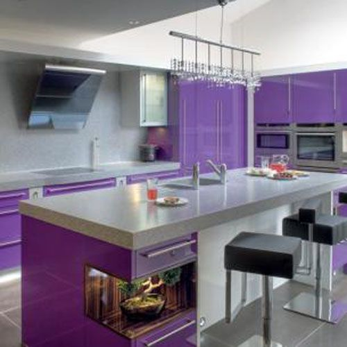 purple kitchen wall color design homes furniture
