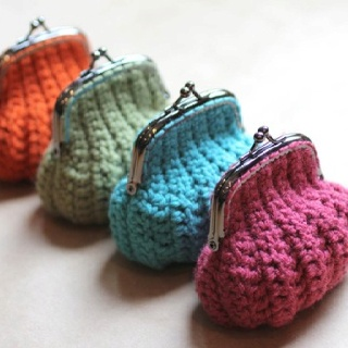 monederos de crochet