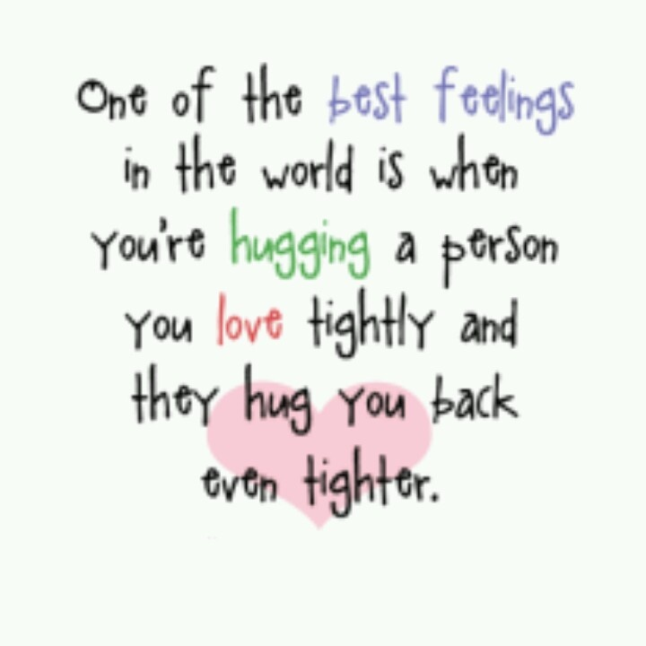 Love this quote about hugs. Hugs Pinterest