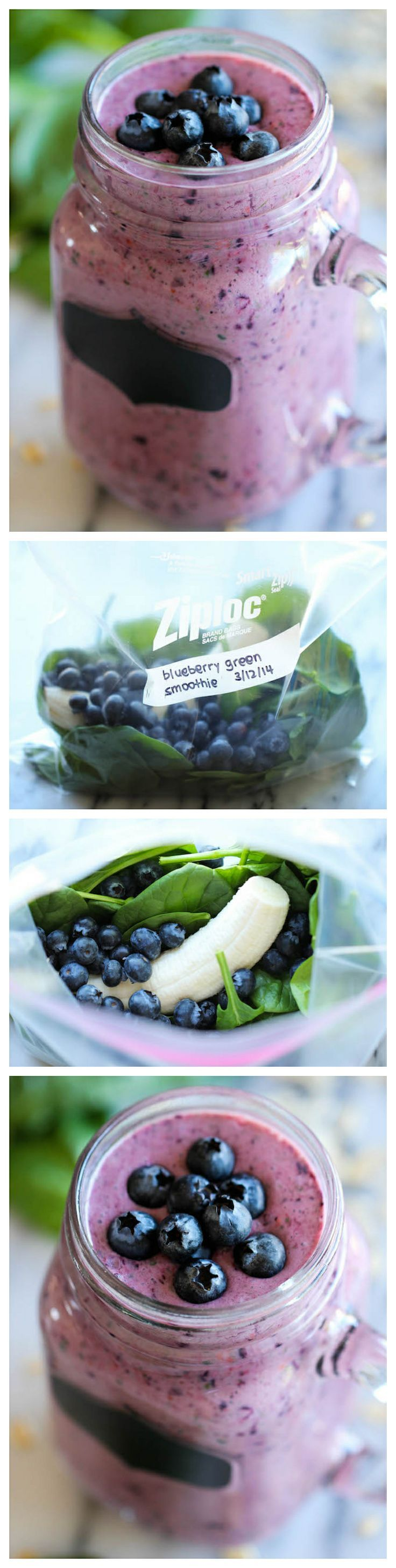 Berry Green Smoothie | Best healthy smoothies | Pinterest