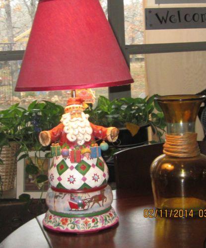 Jim Shore Christmas Santa Table Lamp With Shade