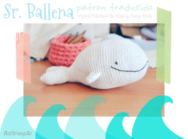 Tutorial Amigurumi Ballena : Sr. ballena amigurumi tutorial
