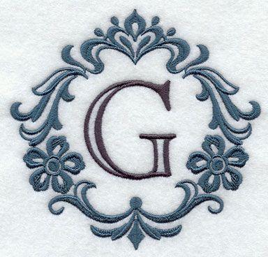 Damask Letter G... G Design Letter