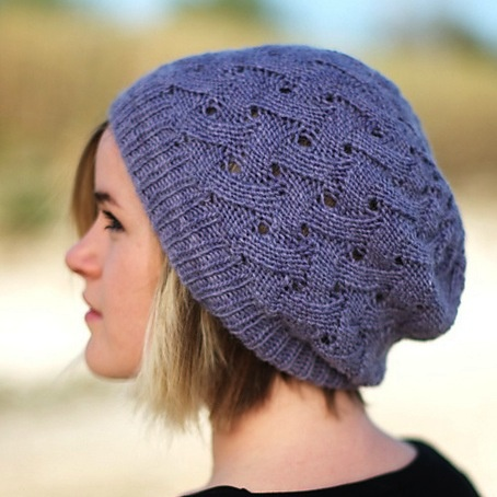 Wooly Hat Knitting Pattern : Woolly Wormhead QL Slouch Hat Knitting Pattern