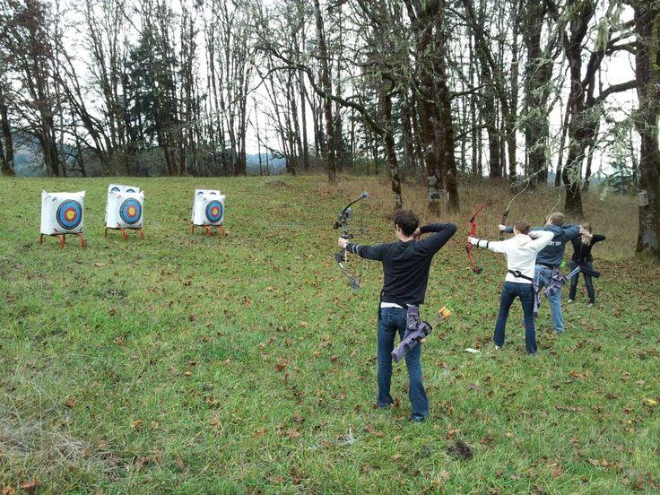 private archery field in backyard for the garden pinterest