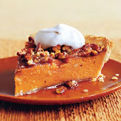 Sweet Potato and Pecan Pie with Cinnamon Cream - Delish.com