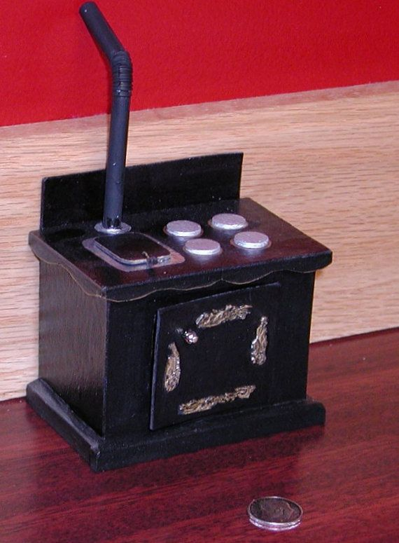 Ooak antique wood burning stove - Antique wood burning stove ...