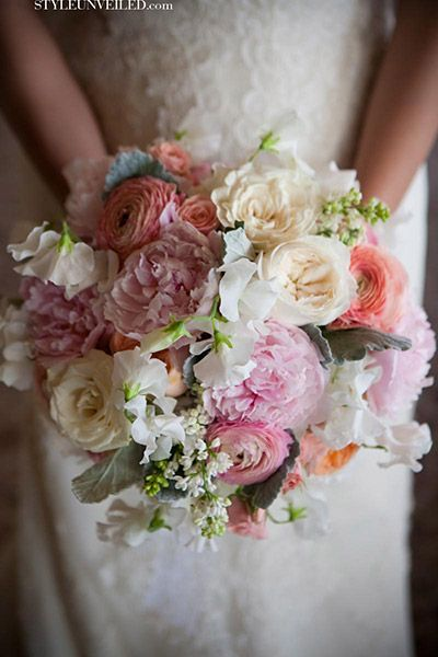 Favorite inspiration bouquet.   Has softness and movement, but also cohesive shape.
