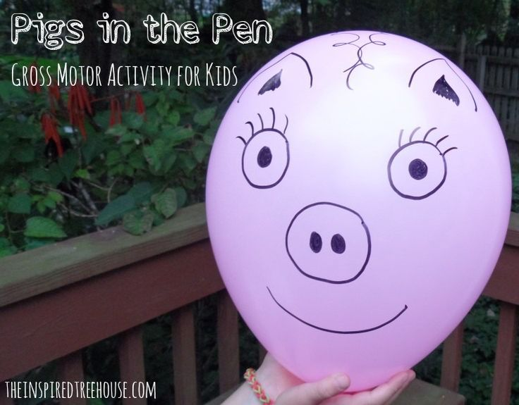 Backyard Treehouse Pediatric Therapy : GROSS MOTOR ACTIVITIES PIGS IN THE PEN