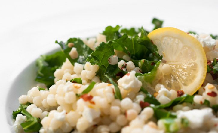 Spicy Kale and Lemon Israeli Couscous | Food! | Pinterest