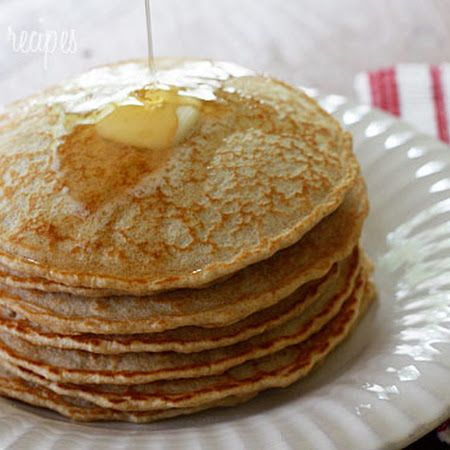 Low fat, whole grain whole wheat pancakes substituted egg whites for ...