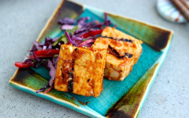 Sriracha-Miso Grilled Tofu