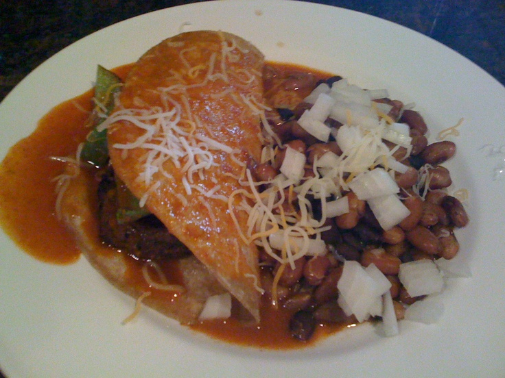 New Mexico Enchilada burger. | Nibbles and Noshes | Pinterest