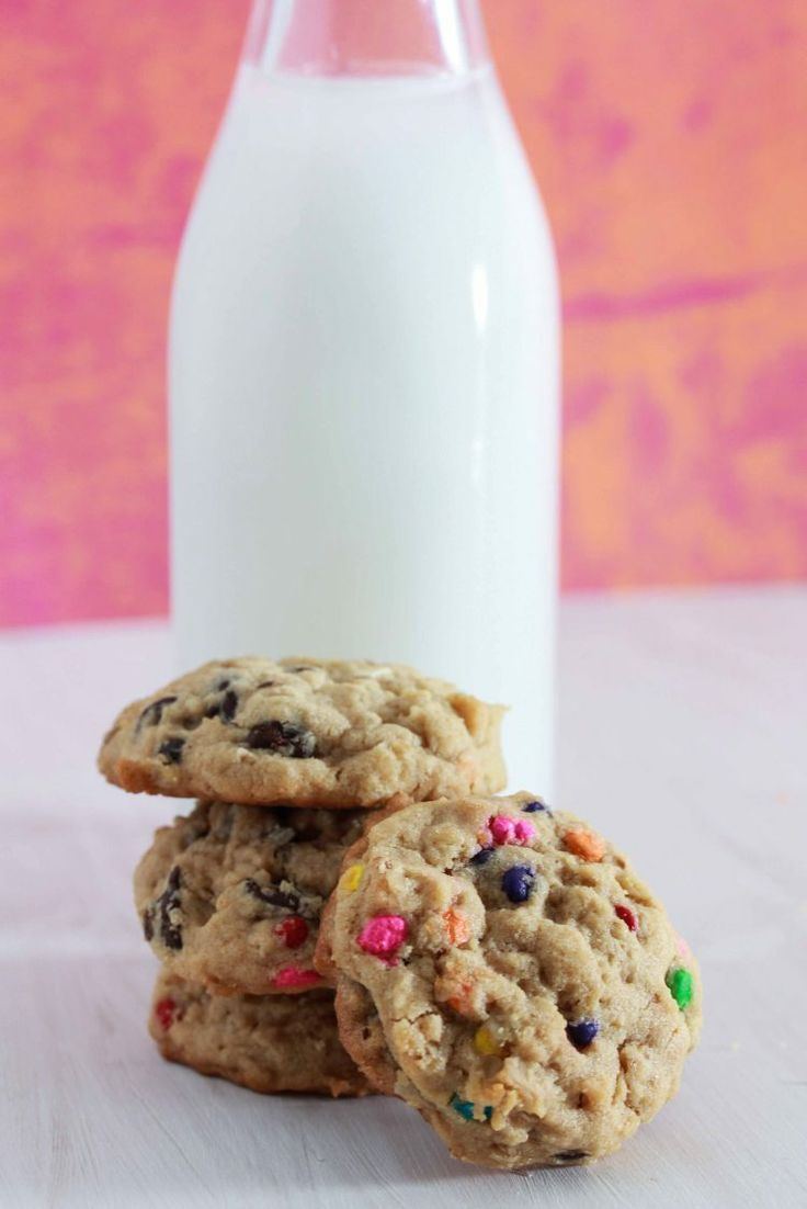 Oatmeal Peanut Butter Cookies with M&M's | cookies,fudge,truffles &am...