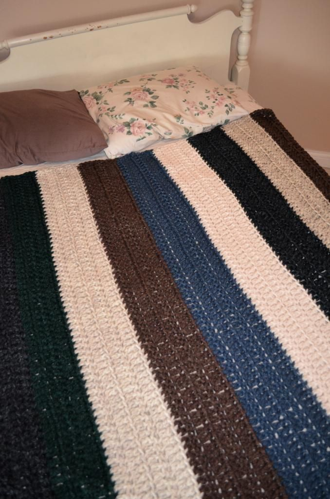 Crochet Quick Blanket : With Audrey: quick crochet blanket Knit and crochet Pinterest