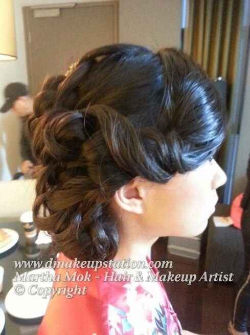 Traditional asian wedding hair