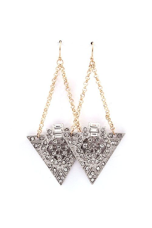 Deco June Earrings in Silver