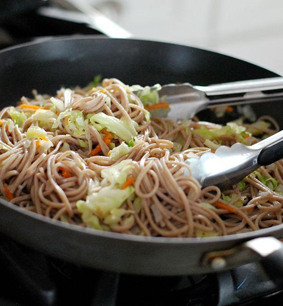 Garlic Peanut Soba Noodles | Pasta | Pinterest