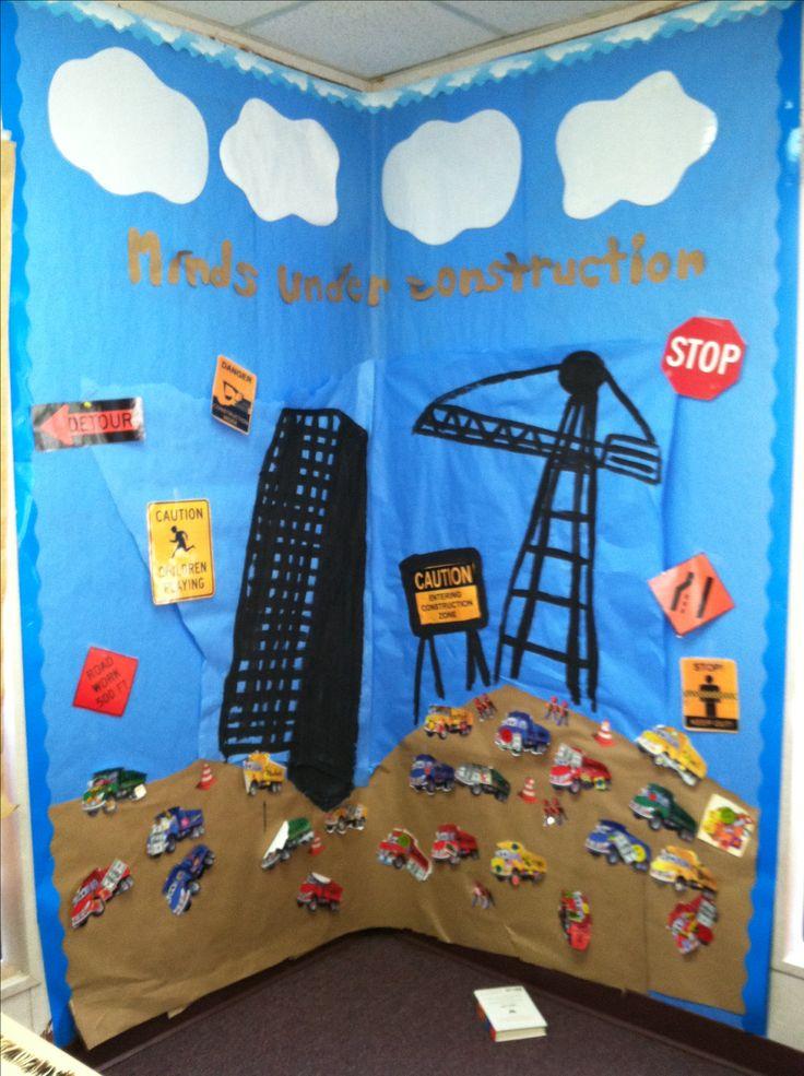 Construction Theme Bulletin Board School Pinterest
