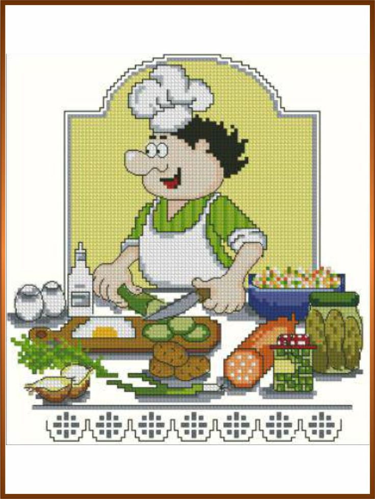 Вышивка крестом кулинария