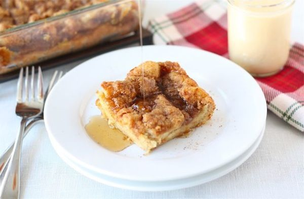Baked Eggnog French Toast. Another recipe that van be prepared the day ...