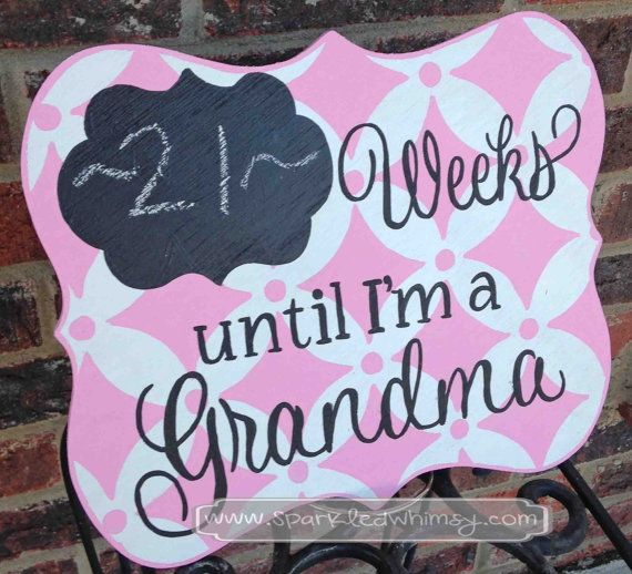 Days Until I'm a Grandma Countdown Chalkboard by Sparkled Whimsy
