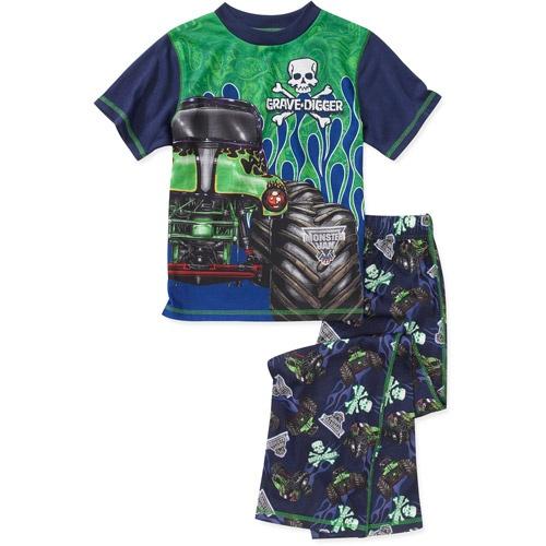 Monster Jam Boys 2 Piece Poly Pajama Set