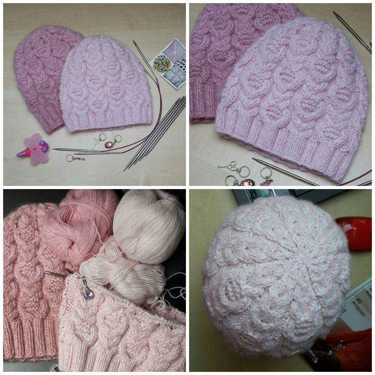 как связать красивую резинку для зимней шапки принцип работы