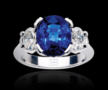 best sapphire and diamond ring I've seen!