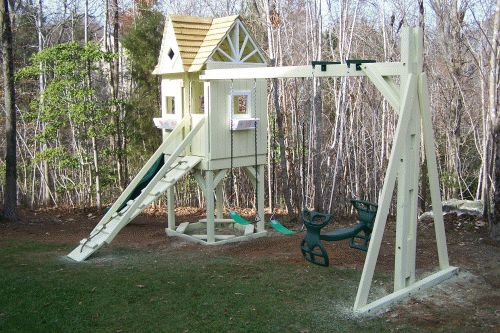 Custom Backyard Playsets : Backyard Playground  Hand Crafted Wooden Playsets & Swing Sets