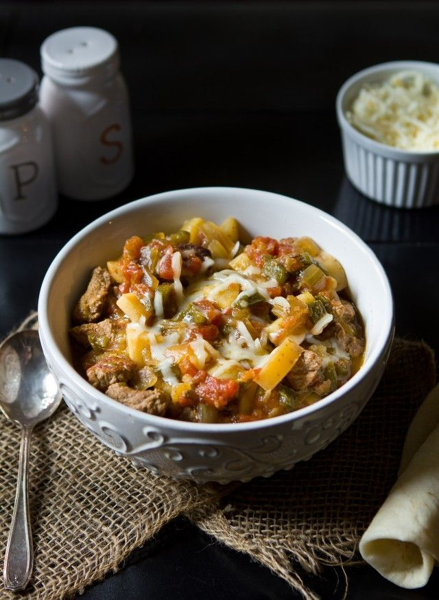 Pork And Poblano Stew Recipe — Dishmaps