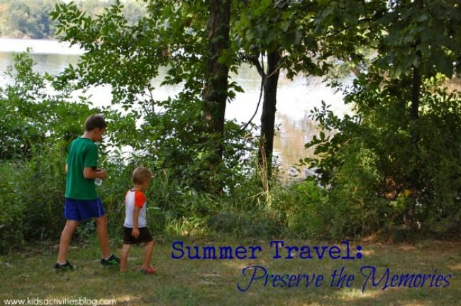 Ideas to preserve family vacation memories from Kids Activities Blog