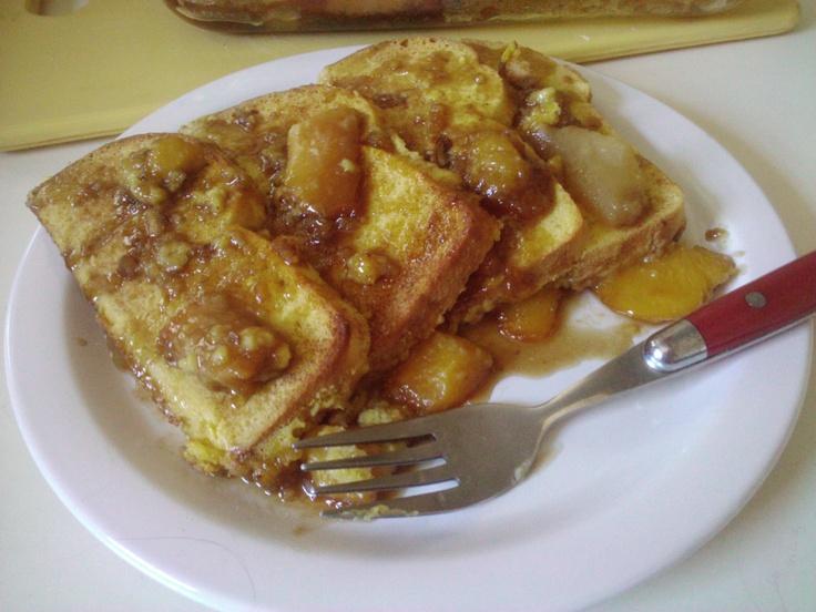 Vegan Baked Peach French Toast | Peachy Fucking Keen | Pinterest
