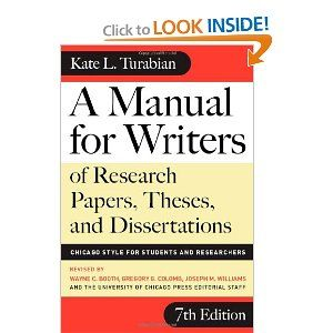 turabian manual for writers of term papers theses and dissertations