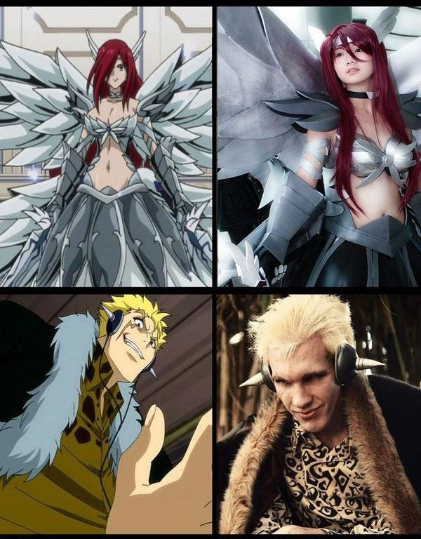 Fairy Tail Erza and Laxus cosplay | Косплей | Pinterest