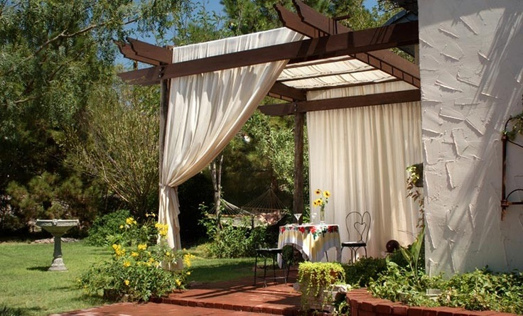 Backyard Awning Shade : Canopies and Pergolas can be great DIYs for any home backyard
